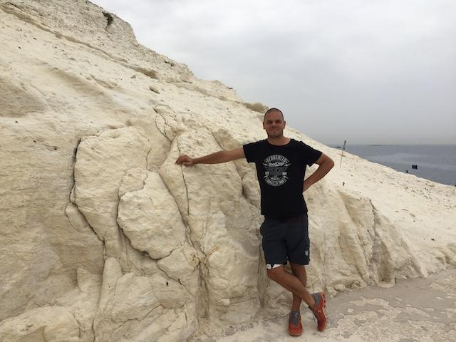 Michael am Kalkfelsen in Israel